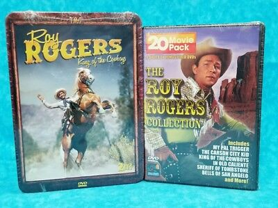 Roy Rogers King Of The Cowboys In Metal Case & 20 Movie Pack Collection! 6 DVDs