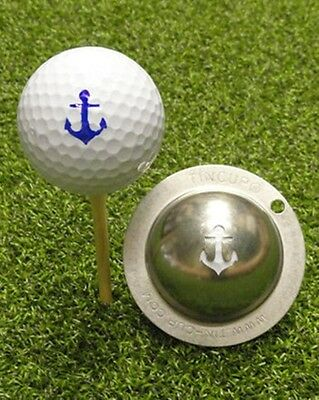 1 only TIN CUP GOLF BALL MARKER - ANCHORS AWAY - looks like freemantle - Dockers