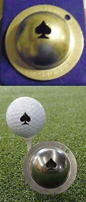 1 only TIN CUP GOLF BALL MARKER - POKER FACE- ACE OF SPADES