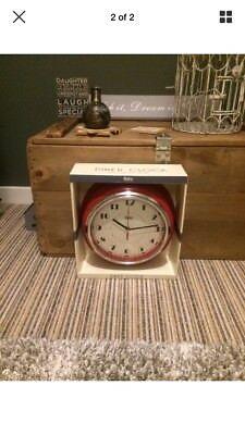 Large 24 cm Vintage Style Wall Clock Home Decor Modern Round Number Time Display