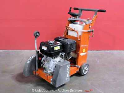 2015 Husqvarna FS400LV Walk-Behind Concrete Floor Saw Honda Gas Engine 13HP