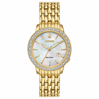 Citizen Eco-Drive EW2282-52D Ladies' Diamond Watch w/ Date