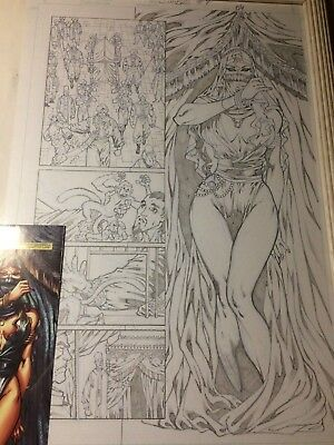 GRIMM FAIRY TAILS #7 ORIGINAL PUBLISHED PAGE 4 By Ron Adrian (RED SONJA ISSUE)