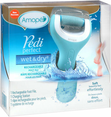 Amope PEDI PERFECT Wet & Dry RECHARGEABLE Foot File BRAND NEW IN BOX
