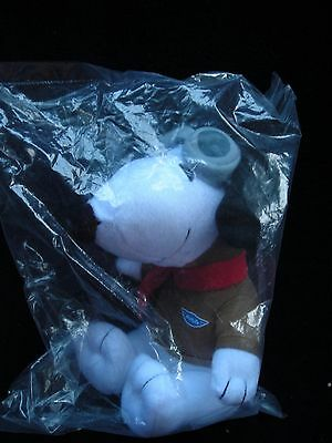 SNOOPY PEANUTS DOG PLUSH PILOT w/ GOGGLES SCARF MetLife Swag New - SEALED