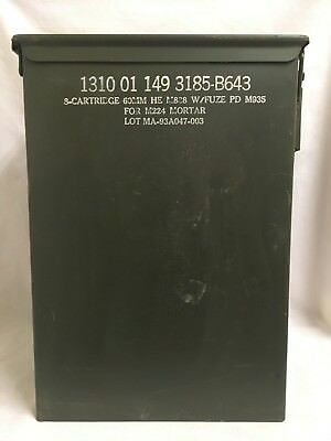 Pa-70 60Mm He M888 Ammo Can Box Chest Top Single Loading Hinge - Great Condition