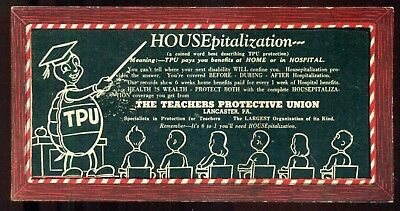 1930's The Teachers Protective Union Advertising Blotter - Lancaster,PA