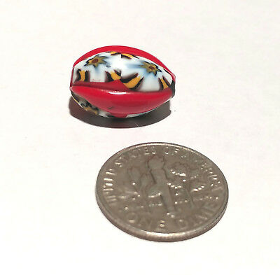 Antique Venetian Millefiori Red Center Murine African Glass Trade Bead