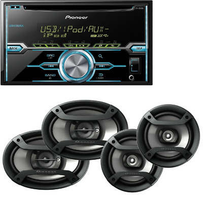 """Double-Din CD Player w/ Mixtrax Pioneer Two Pairs 6.5"""" + 6x9"""" Car Speakers"""