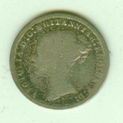 British Silver 1878 3 Pence-Lot E40