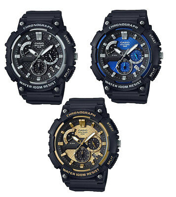 Casio MCW200H Men's Heavy Duty Series Resin Band Analog Chronograph Watch