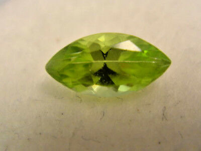 Peridot Marquise Cut Gemstone 8 mm x 4 mm  0.65 Carat Natural Gem