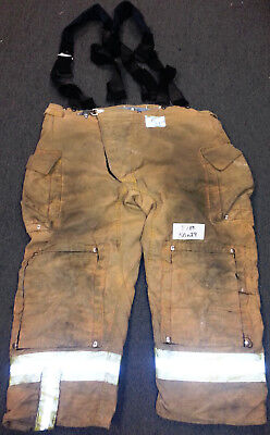 50x29 Pants Firefighter Turnout Bunker Fire Gear Morning Pride + Suspenders P789
