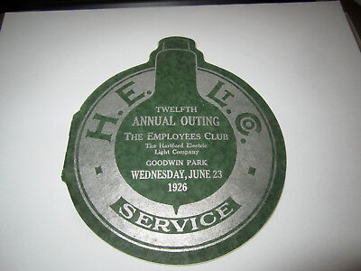 Vintage 1925 Hartford Electric Light Co. Twelfth Annual Outing Program Very Neat