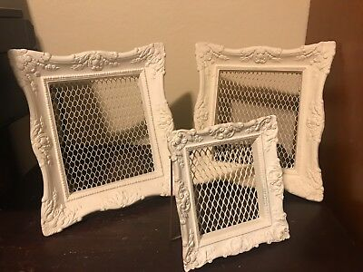 Set of Antique Vintage Victorian Ornate White Washed Resin/Plaster Picture Frame