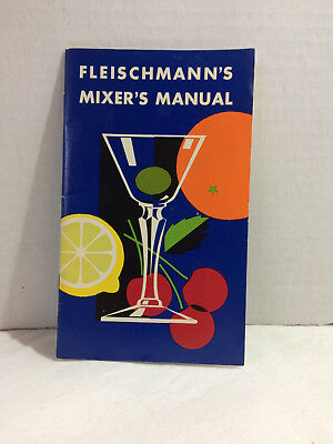 Vtg Art Deco FLEISCHMANN'S MIXER'S MANUAL designed Joseph Binder Drink Recipes