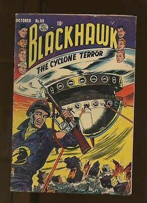 Blackhawk 69 VG 4.0 * 1 Book Lot * Golden Age 1953 Quality Comics! War!