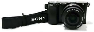 SONY ALPHA a6000 ILCE-6000 HD MIRRORLESS 24.3MP COMPACT DIGITAL SLR CAMERA KIT