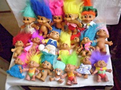 TROLL DOLLS X 19 - VINTAGE - c.1990's INSTANT COLLECTION.
