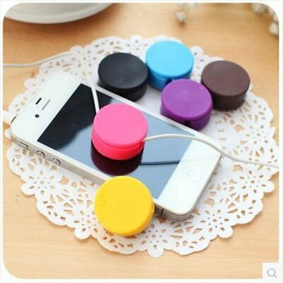 Earphone Cable Cord Winder Organizer Wire Headphone Storage Phone Cleaner CU