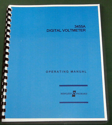 HP 3455A Operating Manual: Comb Bound  & Protective Covers