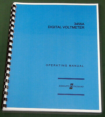 HP 3456A Operating Manual: Comb Bound  & Protective Covers