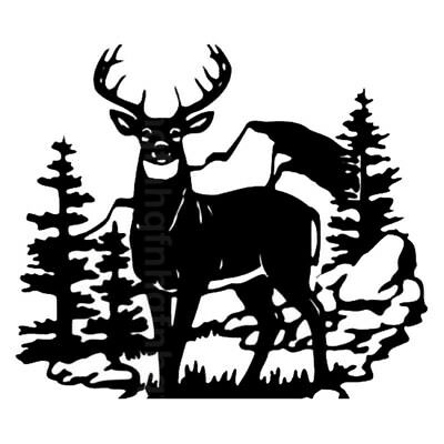 14in Deer Hunter Wild Animal Vinyl Car Stickers Hunting Car Styling Door Decals
