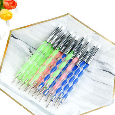 5 X 2 Way Pottery Clay Ball Styluses Nail Art Tool Polymer Clay Sculpture Tools