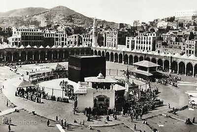 1934 Vintage ISLAM Great Mosque Of Mecca Kabah Architecture Landscape Art 11x14
