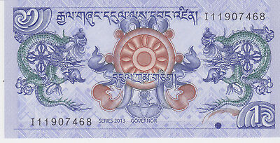Bhutan banknote one ngultrum 2013*