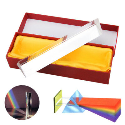 "6""/15cm Optical Glass Triple Triangular Prism Physics Teaching Light Spectrum"