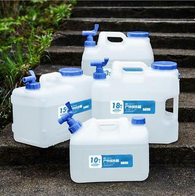 10L/18L Litre Water Container Drinking Jerry Cans Camping W/ Tap Spare Lid Brush
