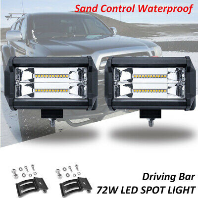 72W SPOT LED Off road Work Light Lamp 12V car boat Truck Driving ATV UTE 4WD SUV