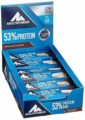 29€/1kg, Multipower 53% Protein Bar Mix Box, 24 x 50g Riegel in 4 Geschmäckern