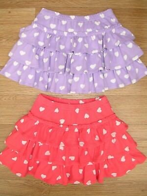 MINI BODEN Girls Bundle Two Pairs Heart Print Skort Shorts Skirt Age 5-6 116cm