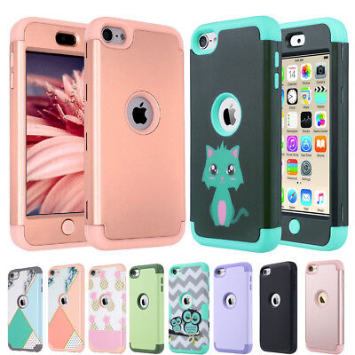 for Apple iPod Touch 5 6th Generation Hybrid Protective Silicon Hard Case Cover