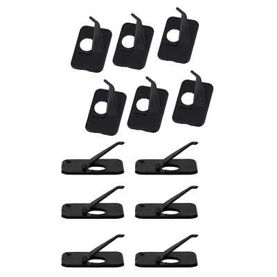12pcs Black Right Hand & Left Hand Plastic Archery Recurve Bow Arrow Rest