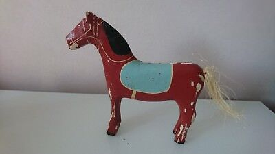 Antique Vintage Swedish DALA HORSE,,,RARE!!