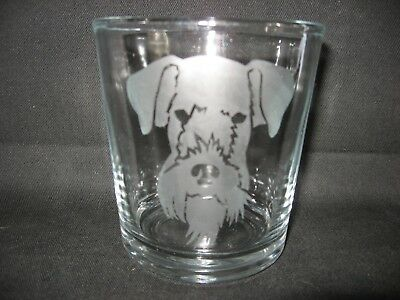 New Etched Airedale Terrier Old-Fashioned Rocks Glass Tumbler