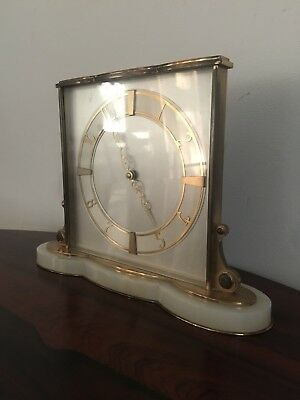 Vintage Art Deco Mantle Clock Working Heavy Quality English 8 Day Wind-Up