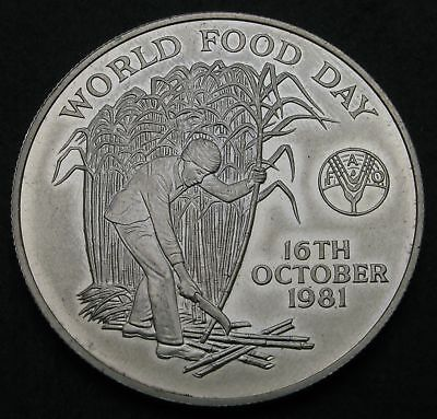 MAURITIUS 10 Rupees 1981 - Silver - World Food Day - aUNC - 3147