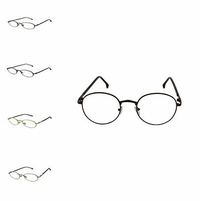New Unisex Clear Lens Round Oval Vintage Geek Nerd Retro Style Fashion Glasses