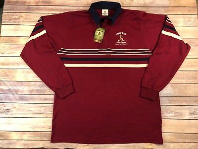 Jameson Irish Whiskey Men's XXL Long Sleeve Rugby Shirt O'Neills New With Tags