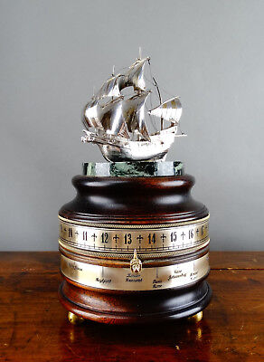 Charles Frodsham Mariners World Mystery Clock with Silver Ship The Golden Hind