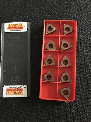 Sandvik Carbide Lay Down Threading Inserts, 266RG-16NT01A180M, Grade 1125 (9PCS)