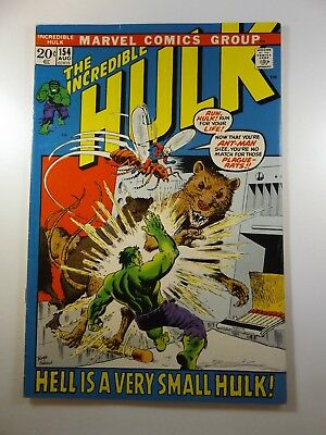 """The Incredible Hulk #154 """"Hell is a Very Small Hulk!"""" Stars Ant-Man!! Nice Fine-"""