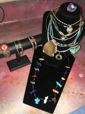 Awesome Lot-Sterling Silver Native American Southwestern Jewelry w/Stones WOW!