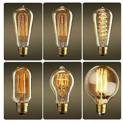 Retro Filament Edison Style Lamp Light Bulb E27 40W Home Party Decor