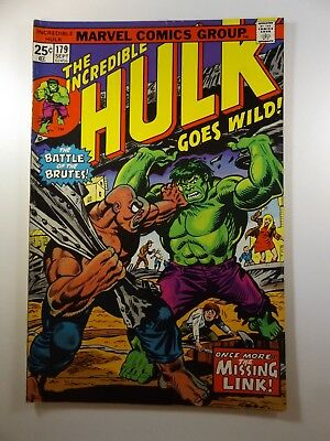 """The Incredible Hulk #179 """"Once More..The Missing Link!"""" MVS Intact! VG!!"""