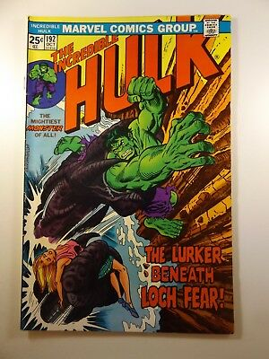 """The Incredible Hulk #192 """"The Lurker Beneath Loch Fear!"""" Sharp VG Condition!!"""